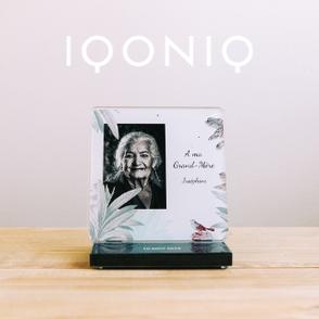 IQONIQ Plaque funéraire personnalisée