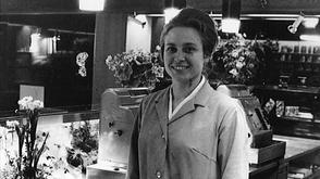 Geschichte Bäckerei Sterchi: Lotty Sterchi-Bohren, Ehefrau von Hans Sterchi.