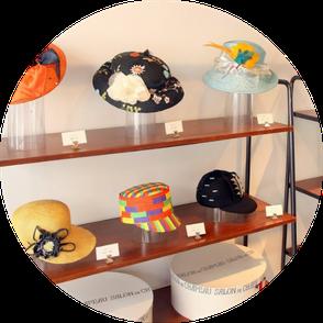 帽子の学校 サロン・ド・シャポー学院  修業作品展の様子
