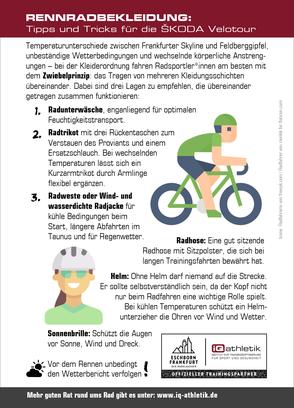 Infografik: Die optimale Rennradbekleidung