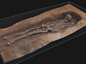3D Modell Archäologie Grab digroma