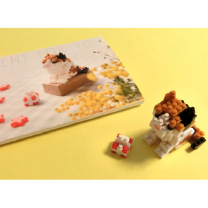 nanoblock postcard cat