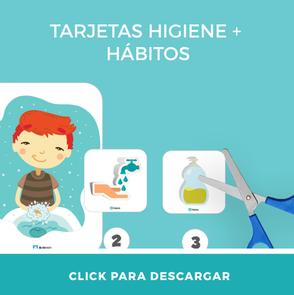 Descarga gratis didáctico flashcard higiene