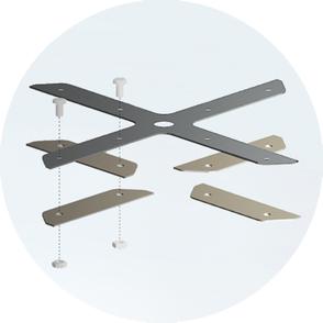 mobob® Messerträger mit mobob® Ersatzklingen und Schrauben