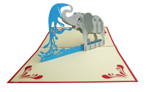 Carte pop-up éléphant