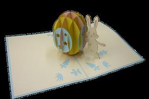 Carte pop-up Joyeuses Pâques