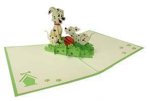 Carte pop-up dalmatiens
