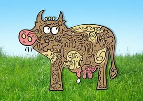 Van Bun Communicatie & Vormgeving - Internetgazet Lommel - Illustraties - Tekeningen - Grafisch ontwerp - Publiciteit - Reclame - Boeee zit de koeeee