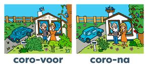 Van Bun Communicatie & Vormgeving - Internetgazet Lommel - Illustraties - Tekeningen - Grafisch ontwerp - Publiciteit - Reclame - Corona zonder kinderen