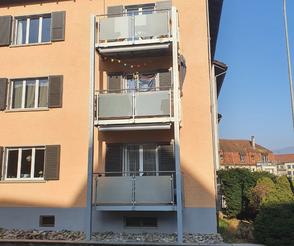 Balkon Metall Glas Metallbau