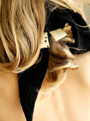 Kopftuch, Musselin, Schwarz / Headscarf, Muslin, Black