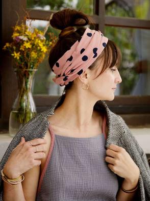 Kopftuch, Leichter Sweat, Rosa / Headscarf, Light Sweat, Rose