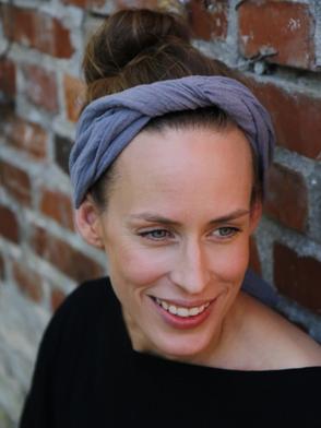 Kopftuch, Musselin, Grau / Headscarf, Muslin, Grey