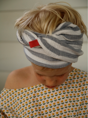 Kopftuch, Musselin, Gestreift / Headscarf, Muslin, Stripes