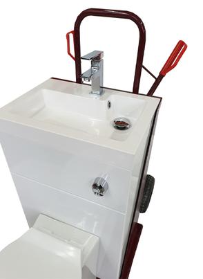 rénovation de salle de bain, dégâts d'eau? Mobile Toilette mieten, Komplettdusche von LocaFuites Luxembourg