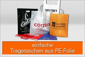 Einfache Einkaufstaschen aus PE-Folie