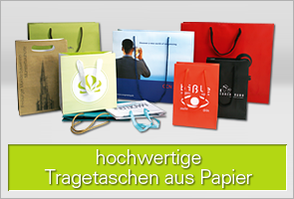 Hochwertige Papiertragetaschen für Ihre Werbung