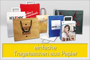 Einfache Papiertragetaschen für Ihre Werbung