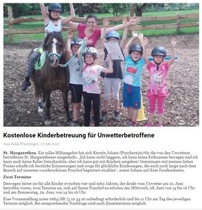 Bericht Unterkärntner Nachrichten, 27.06.2017