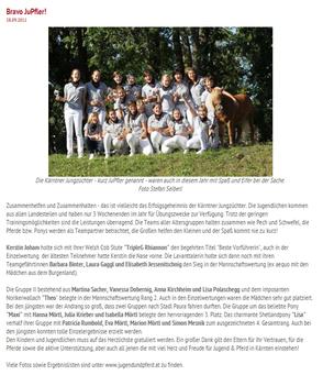 Ponykerstin Jugend und Pferd 2011 - Dreifachsieg