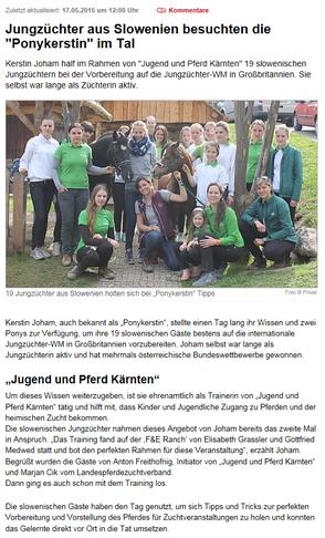 Bericht Ponykerstin Kleine Zeitung