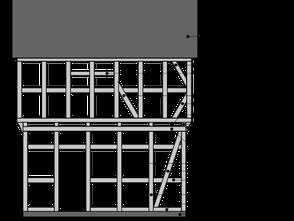 Aufbau eines Fachwerkhauses