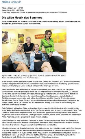 Presseartikel Merkur-online.de vom 14.07.2011