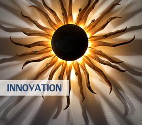 Unternehmensberatung: Innovation  und Ausstrahlung - Sonnenlampe bei Reinhard Vossmann