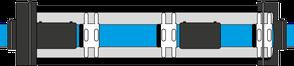 KEBÍ Schema Verbau von Gleitkufen und Endmanschetten