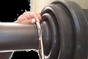 KEBI Endmanschette für den Übergang von Schutzrohr und Mediumrohr