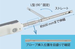 ワイヤレス風速計AF101 目盛り付きL型伸縮プローブ