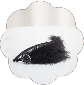 Vintage Haarreif in Schwarz. 20er Jahre Kopfschmuck - Gatsby Style.