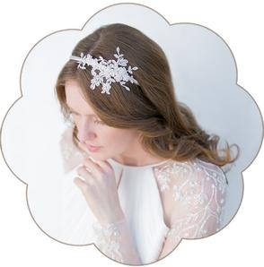 Vintage-Haarreif: edler Haarreif aus feinster Spitze. Haarreifen ivory oder weiß für Hochzeiten und Standesamt. Lace headband, Hairaccessoires wedding.