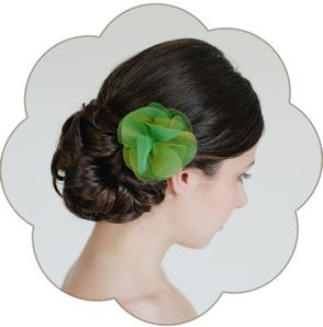 Haarblüte Organza Seide Hochzeit, Gala, Event, Oper, Sommer Look, Trauzeuginnen, Braut Mutter, Standesamt, Tracht, Dirndl  etc.
