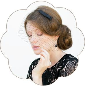Haarschmuck: 20er Jahre Haarband mit Spitzen Applikation in schwarz. Vintage - Gatsby, style in black.