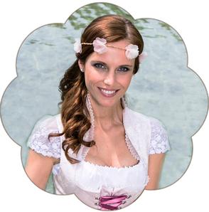 Blumenhaarkranz Seidenblüten Hochzeit, Oktoberfest, Tracht, Sommerfest, Waldfest. Blütenhaarkranz für die Braut.