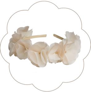 Haarkranz Seidenblüten. Haarreif für die Braut, Tracht, Oktoberfest, Sommer Party in Creme, Beige, Ivory, Apricot: Blütenpracht!