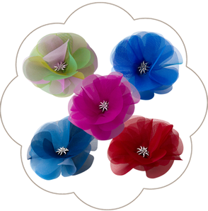 Haarblüte Haarclip Haarschmuck mit Trachten Deko Edelweiss. Seidenblüte-  Haarclip Oktoberfest, Tracht, Hochzeit, Sommerfest, Waldfest. Blüten Haarclip Wiesen.