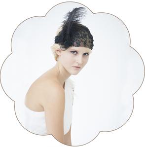 Haarschmuck Gatsby Kopfschmuck in Schwarz. 20er Jahre Haarschmuck. 20ies Headpiece black.