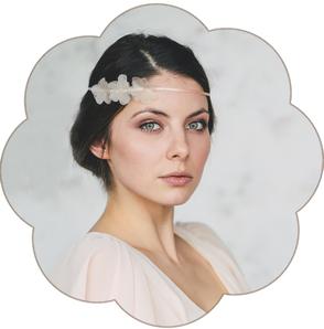Haarband mit Seidenblüten für die Braut. Romantischer Haarschmuck, Boho - Bohemian Hochzeit.