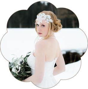 Bohemian - Boho -Vintage-Haarband: edler Haarband aus feinster Spitze. Haarband ivory oder weiß für Hochzeiten und Standesamt. Lace headband, Hairaccessoires wedding.