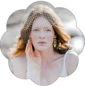 Golderner Fascinator Schleiernetz Birdcage die Braut. Gold Netz Kopfschmuck Haarschmuck für die Hochzeit oder Event