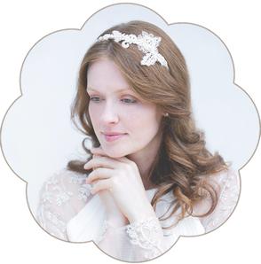 Bohemian-Boho-Vintage-Haarreif: edler Haarreif aus feinster Spitze. Haarreifen ivory für Hochzeiten und Standesamt. Lace headband, Hairaccessoires wedding.