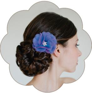 Haarblüte Organza Seide edel für Hochzeit, Gala, Event, Oper, Sommer Look, Trauzeuginnen, Braut Mutter, Standesamt, Tracht, Dirndl, etc.