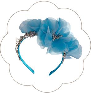 Blüten Haarreif mit Edelweiss, Brezen, Hirsch und Trachten Deko. Seidenblüten Haarkranz Oktoberfest, Tracht, Sommerfest, Waldfest. Blütenhaarkranz.