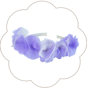 Haarkranz Seidenblüten. Haarreif für die Braut, Tracht, Oktoberfest, Sommer Party in Flieder, Ivory: Blütenpracht!