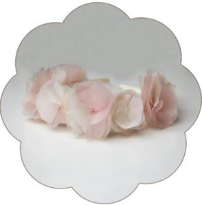 Haarkranz Seidenblüten. Haarreif für die Braut, Tracht, Oktoberfest, Sommer Party in Rosa-Ivory: Blütenpracht!