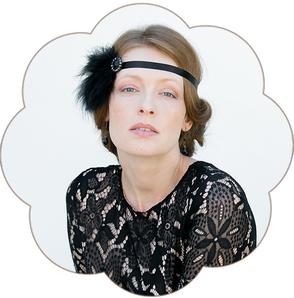 Vintage Haarband in Schwarz. 20er Jahre Kopfschmuck - Gatsby Style.