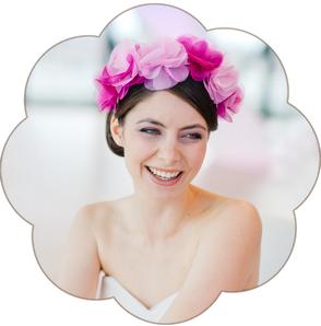 Seidenblüten Haarreif für die Braut in pink rose ivory: Blütenpracht!