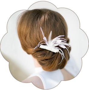Feder Haarschmuck für die Braut. Brauthaarschmuck für die moderne, romantische oder vintage Hochzeit.